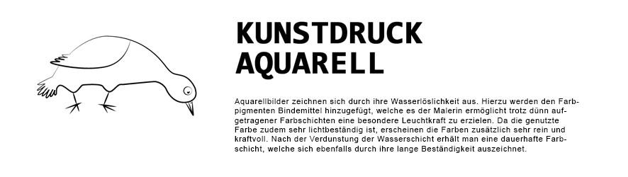 kunstvolle Kunstrucke in Aquarell | WanlenArt.de